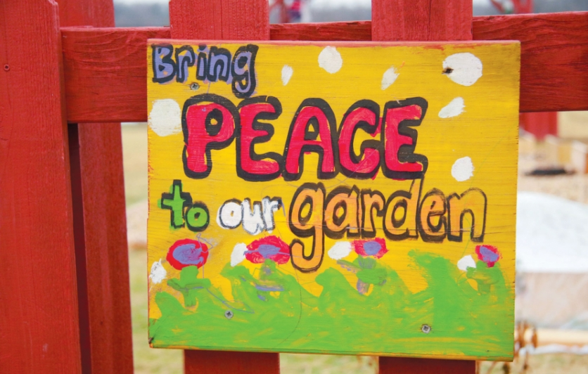 Bring peace to our garden