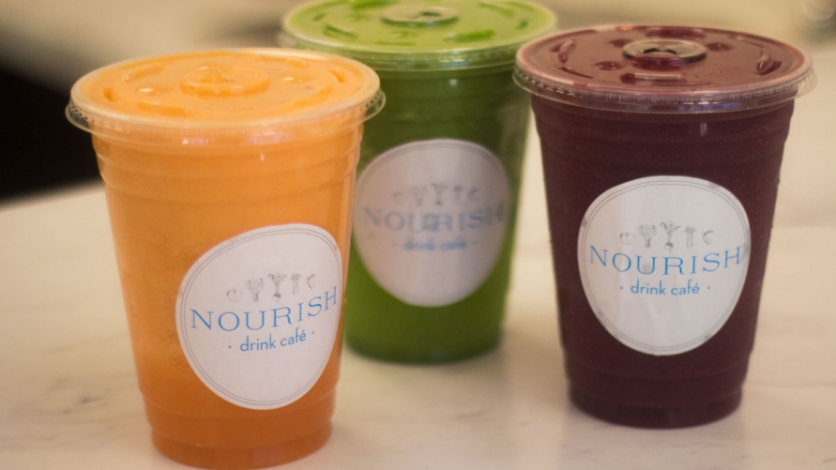 Smoothies at Nourish Drink Cafe