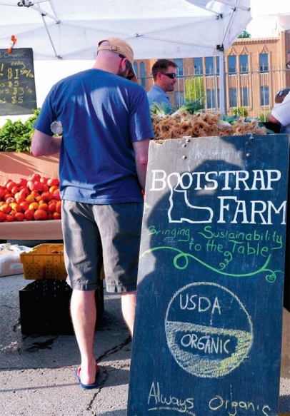 Bootstrap Farm at the Farmers Market