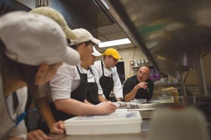 Canebrake's Executive Chef Sam Bracken with kitchen crew