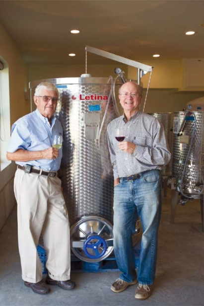 D. I. Wilkinson, M.D. and the Reverend Bob Wickizer at Pecan Creek Winery