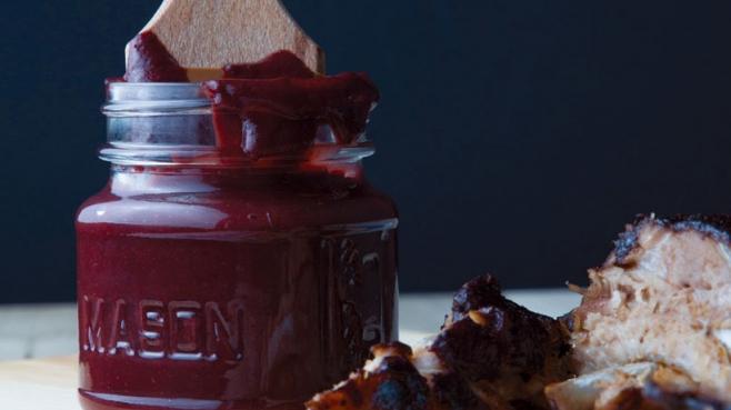 Blueberry-Bourbon BBQ Sauce