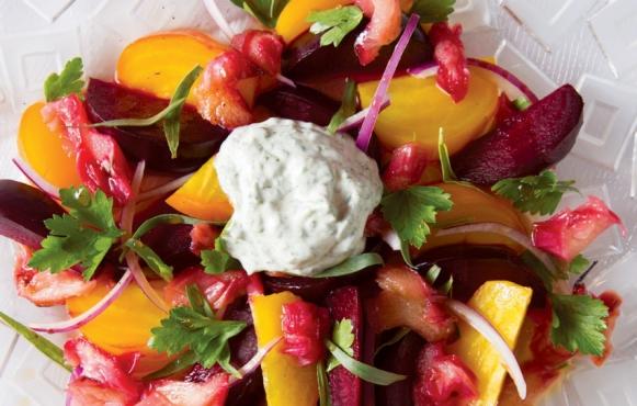 Rhubarb-Beet Tarragon Salad